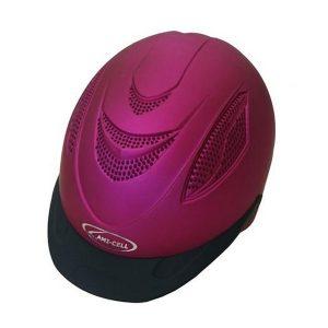 Kypärä, Lami-CellVG1 standardin mukainen kevyt ja säädettävä kypärä. Irrotettava vuori. Metallinhohtoinen fuksia väri. Säädettävä.
